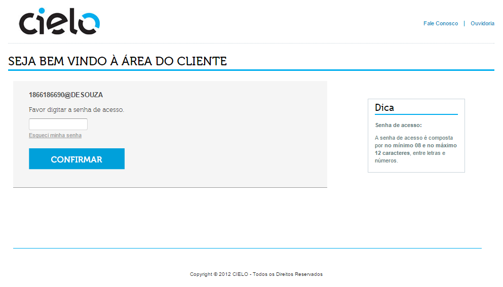 Acessando o Backoffice